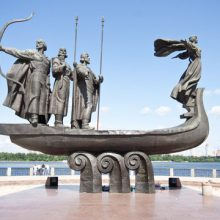 Monument to the founders of Kiev